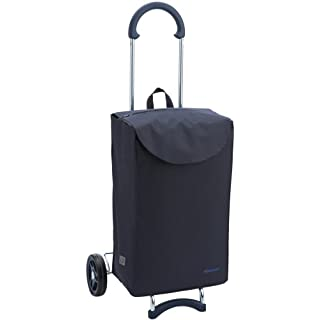 Andersen shopping trolley Scala | Max. load capacity: 40 kg | Smooth-running wheels | Bag Walker blue | Volume: 40L | Made in Germany