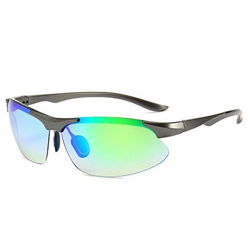 QQBL Männer Und Frauen Allgemeine Mode Personalisierten PC Outdoor Sports UV400 Sonnenbrille,Green
