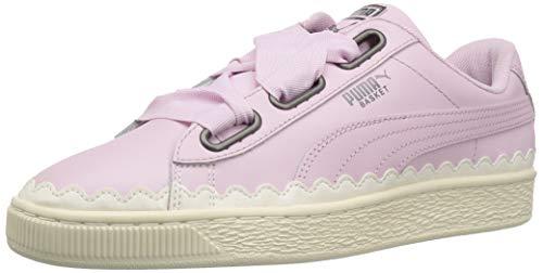 PUMA Women s Basket Heart Scallop Sneaker Winsome Orchid  7 M US