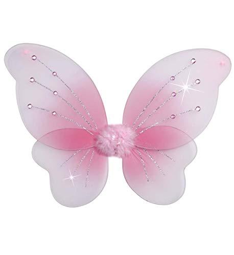 Widmann - ali con gemme, glitter rosa, lunghezza 50 x altezza 40 cm
