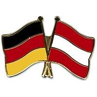 Yantec Freundschaftspin Deutschland-Polen mit Wappen Pin Flagge