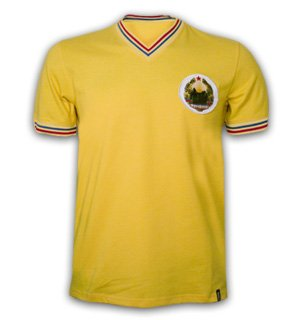 Copa Classics Romania 1973 Short Sleeve Retro Shirt 100% cotton