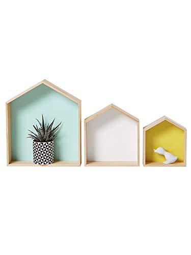 VERTBAUDET Lot de 3 étagères Home Bois/multicolore TU
