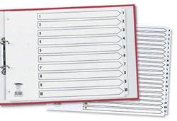 Concord 04801/CS48 Classic Register1-20, mit Mylar-Verstärkung und 4-fach Lochung, A3, Weiß