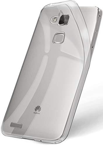 ONEFLOW Huawei Mate 7 | Hülle Silikon Transparent Frosted Back-Cover Stoßfeste Schutzhülle Clear Handy-Hülle für Huawei Ascend Mate 7 Case Dünn Silikonhülle Tasche