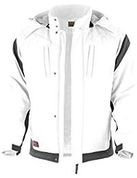 Winter-Softshelljacke Pro warme Arbeitsjacke Berufsbekleidung Maler,Trockenbau weiß-grau Gr.S-3XL