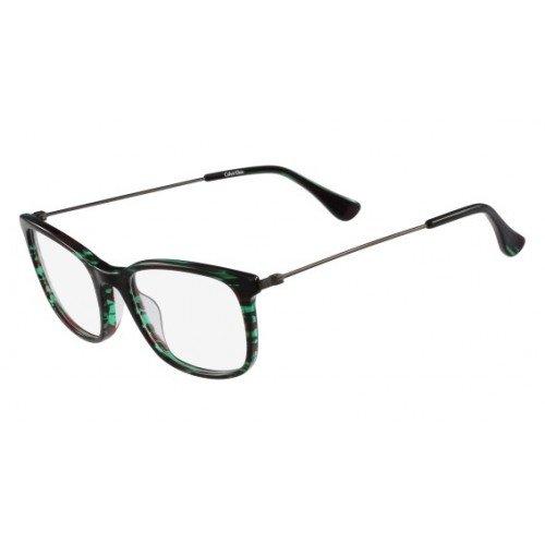 Calvin Klein Platinum - CK5929, Rechteckig, Acetat, Damenbrillen, STRIPED GREEN(315 A), 51/19/140
