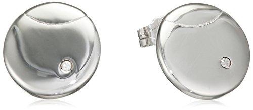 Hot Diamonds-Orecchini a perno, Lunar Eclipse, argento, colore: argento, cod. DE422