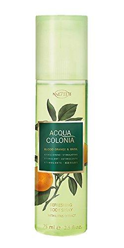 4711 Acqua Colonia Unisex Spray, sangue e basilico, 75 ml, colore: arancione