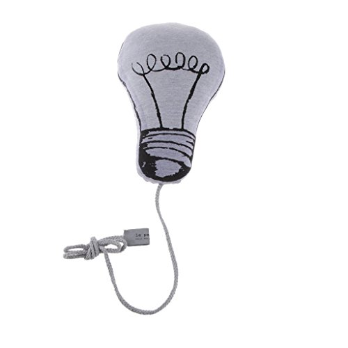 onewiller Lampe Birne Form Luminous Kissen Baby Tröster Spielzeug Home Decor effektiv wie einer Fee Does