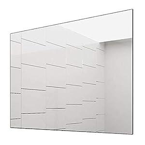 Concept2u Spiegel -Badspiegel -Wandspiegel 5 mm - Kanten fein poliert - inkl. verdeckter Halterungen quer oder hochkant Montage möglich 60 cm Breit x 80 cm Hoch