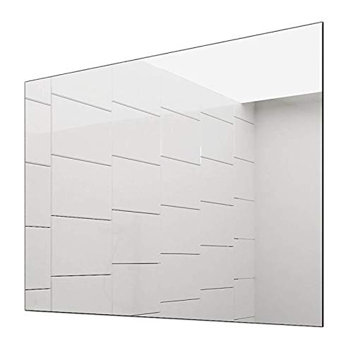 Concept2u Spiegel -Badspiegel -Wandspiegel 5 mm - Kanten fein poliert - inkl. verdeckter Halterungen quer oder hochkant Montage möglich 70 cm Breit x 80 cm Hoch