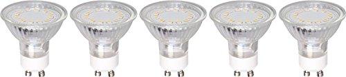 XQ-lite lot de 5 réflecteurs LED culot GU10 3 W remplace 25 W 230 lm angle d'éclairage 110° blanc chaud XQ 1408–5