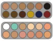 Camouflage Make-up-Palette CK mit 24 Farben