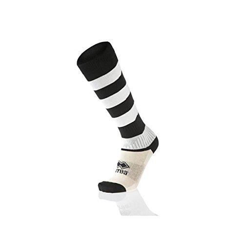 Errea zone calze calzettoni calcio calcetto rugby pallavolo nero bianco adulto