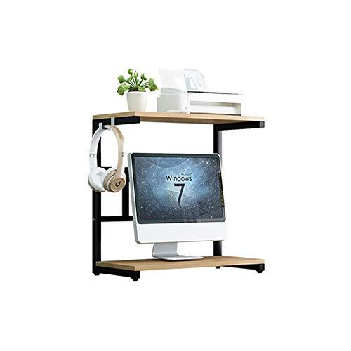 LI MING SHOP Desktop-Drucker-Monitor-Pad Erhöhte Lagerung Tastatur Versteckte Lagerregal Büro Multi-Layer-Audio-Regal-Design Kann 20 Kg Tragen (Size : 60x25x57.5cm) - 2 Regal-audio-stand