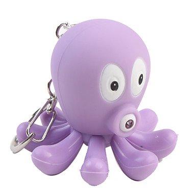Oktopus Schlüsselanhänger mit LED-Taschenlampe und Sound-Effekte, 2 zufällige Farben von OXOX auf Outdoor Shop