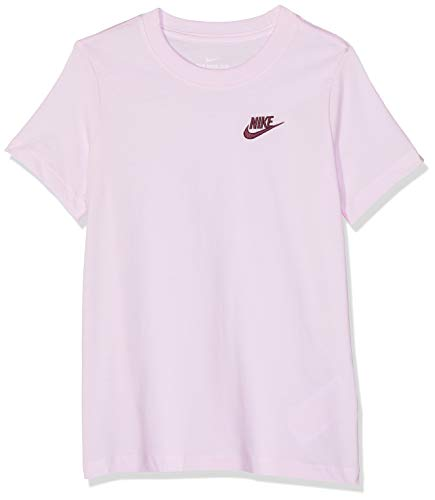 Nike Mädchen G NSW Tee EMB Swoosh T-Shirt, pink Foam, L (Shirt Swoosh Crew)