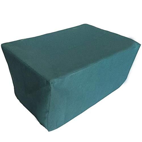 Liul Wasserdicht Plane Gartenmöbelabdeckungen Rechteckig Staubdicht Oxford-PVC-Beschichtung Hochleistungsschutz,3 Größen, Anpassbar,Green-135x135x75cm