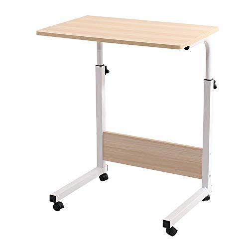 Alexzh_Side tables Beistelltisch, Modern Simplicity Movable Lifting Easy Study Table Faules Frühstücksraum Schlafsaal Zimmer Schlafzimmer Wohnzimmer (Farbe : Maple 60 * 40cm) -