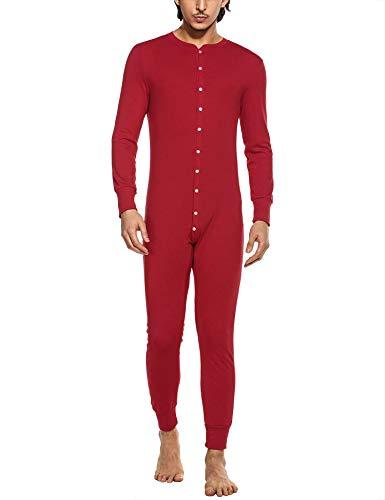 MAXMODA Combinaison Pyjama à Capuche en Polaire Homme