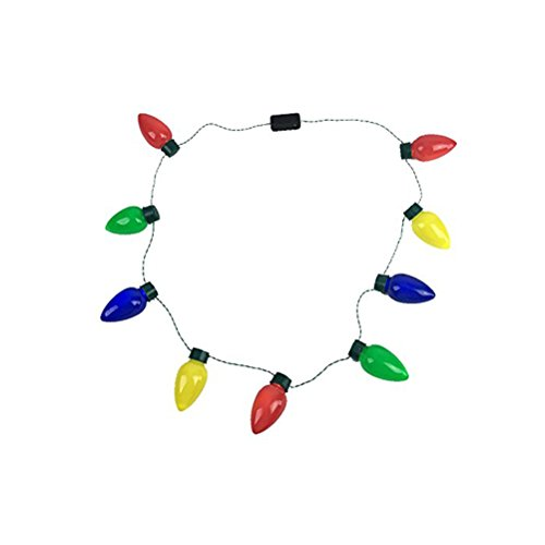 LEDMOMO LED Halskette Farbwecksel LED-Streifen Schmuck Halloween Nacht Party Kostüm Zubehör