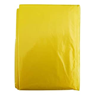 AceCamp 5x Unisex Disposable Rain Poncho With Hood Emergency Poncho Rain Cape, Rain Coat, Waterproof, Festivals, Outdoor Concerts, 5 x Yellow
