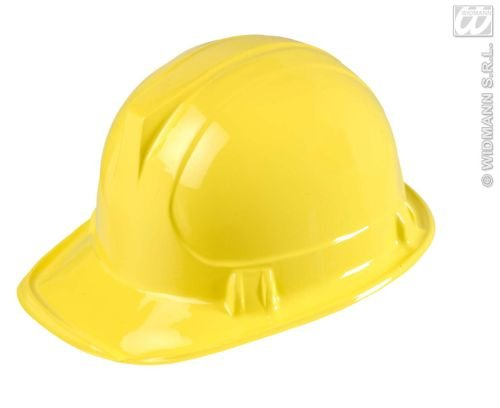 Widmann 2863B Bauarbeiterhelm für Erwachsene, gelb, Einheitsgröße