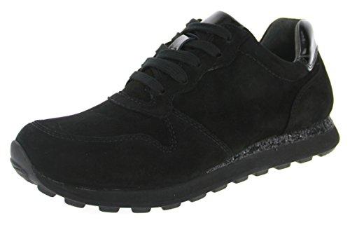 Gabor Damenschuhe 56.366.37 Damen Schnürer, Sneaker, Halbschuhe, Schnürhalbschuhe Schwarz (schwarz (S.pail)), EU 40