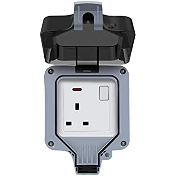 NEW NEW NEW Outdoor IP66 RCD Switch with 1 x 13A Socket