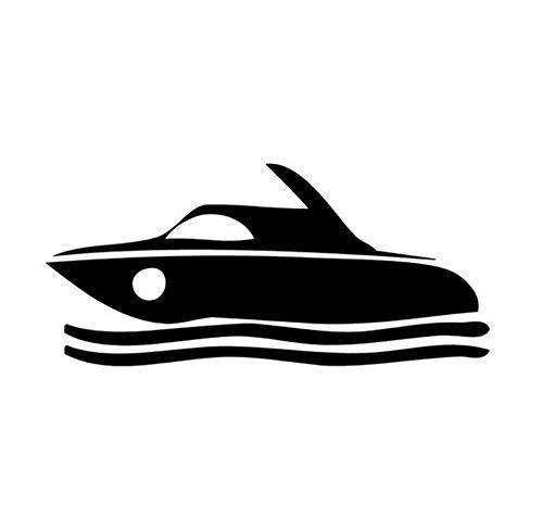 14,9 cm * 6,8 cm Motorboot Schnellboot Motorboot Mode Vinyl Auto Aufkleber Schwarz/Silber/3PCS