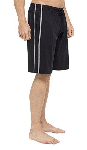 Tom Franks Pyjamahose 2 Stück Lounge Hose), Jersey-Baumwolle Schwarz-Grau
