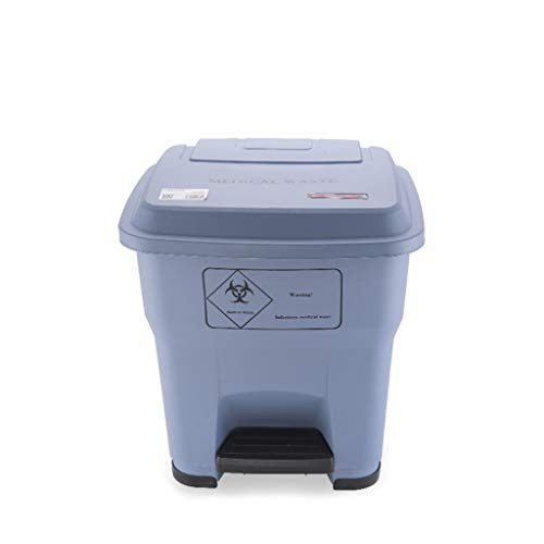 Mülltonnen Große Kunststoff rechteckige Outdoor Mülleimer Mülleimer Medical Recycling Kompost Bins Papier Lagerplätze Multicolor optional 30L/55L Papierkörbe ( Color : Gray , Größe : 15.56*16.55inch )