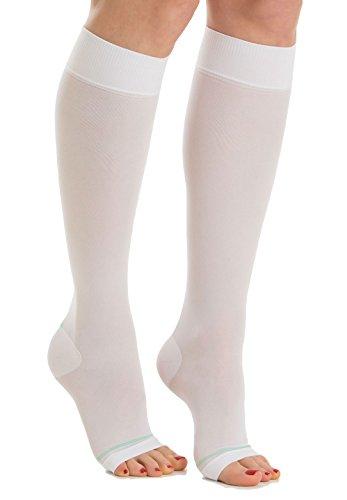 RelaxSan Antiembolism M0350A Open-toe anti-embolism knee high socks - 18-23 mmHg
