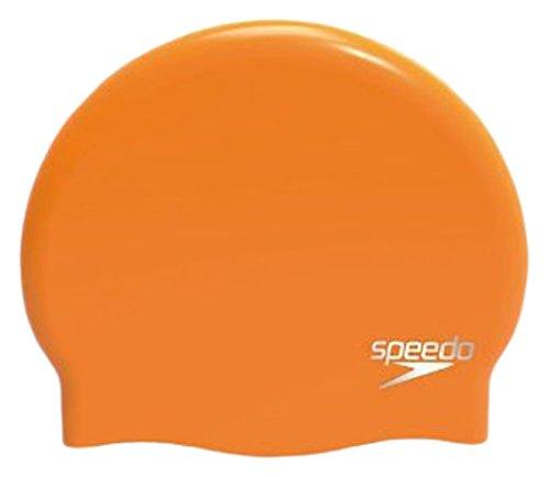 Speedo Erwachsene Plain Moulded Silicone Cap Mütze, Jaffa, One size
