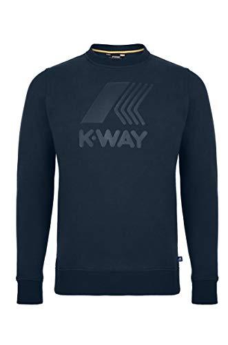 K-way mod k0096u0 augustine macro logo tick logo colore k89 blue depht taglia s
