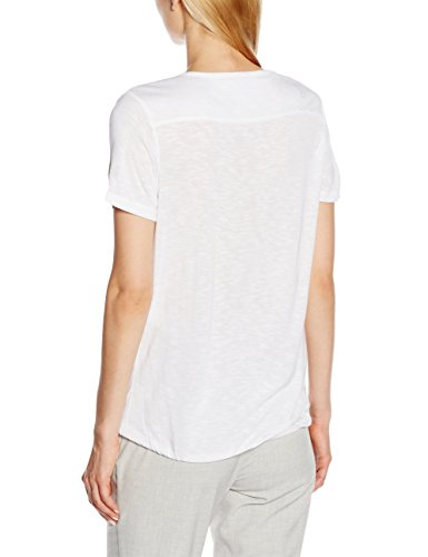 Comma CI Damen T-Shirt Weiß (white 0100)