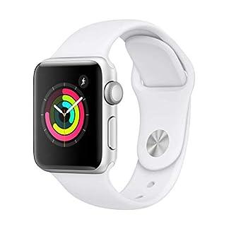 AppleWatchSeries3 (GPS) concaja de 38mm de aluminio enplata ycorrea deportiva  – Blanca