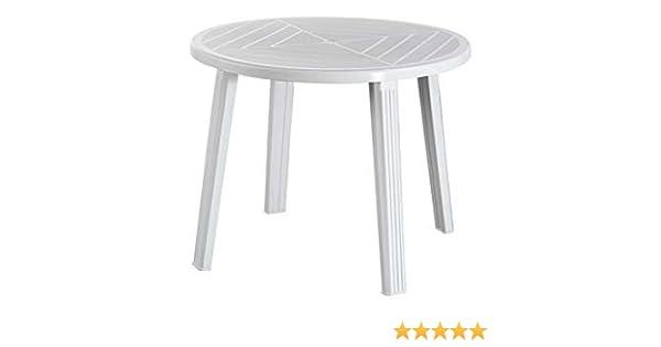 Tavolo resina tondo bianco 90 progarden