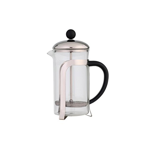 axentia Chiasso Kaffee-und Teebereiter, Edelstahl, schwarz, transparent, silberfarben