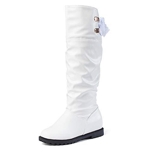 Watopi Damen Reitstiefel Kniestiefel Stiefel weiches Leder Stiefel komfortable Frauen Lange Stiefel Schuhe Boots Vintage