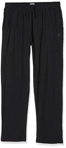 JP 1880 Herren große Größen bis 8XL, Pyjama-Hose aus 100% Baumwolle, Schlafanzug-Hose, Sweatpants mit elastischem Bund schwarz XXL 708406 10-XXL