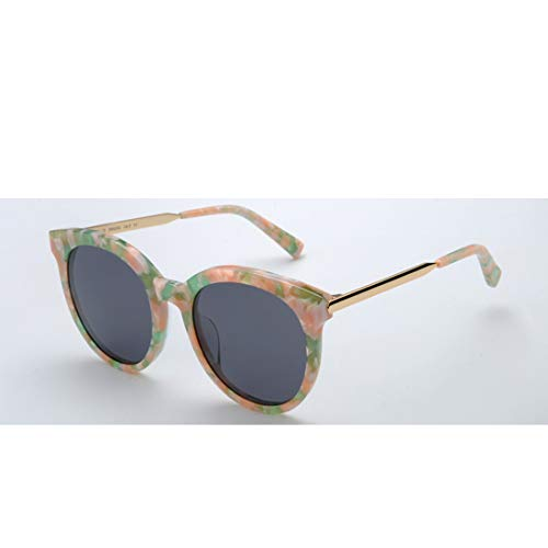 Yiph-Sunglass Sonnenbrillen Mode Klassische Männer Katzenaugen polarisierte Sonnenbrille Acetatfaser schwarz Rahmen TAC rosa Objektiv UV-Schutz Fahren Urlaub Strand Sonnenbrillen (Farbe : Orange) -