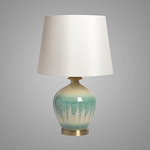 Guo Cerámica china lámpara de mesa lámpara de noche dormitorio Caliente trompeta luces nocturnas estadounidense lámpara de cobre con incrustaciones antiguo