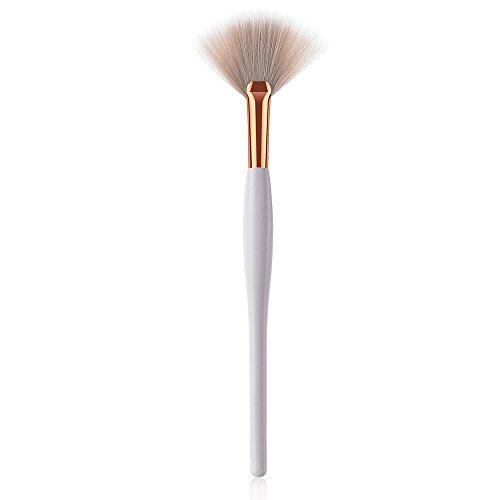 Pinceaux Maquillage,Base en Bois CosméTique Outils De Pinceau De Maquillage De Brosse De Fard à PaupièRes De Sourcil Poils Synthetiques Doux Et sans Cruauté