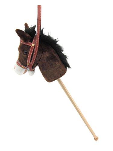 Sweety-Toys-5055-Steckenpferd-My-little-Pony-chocolate-super-sss-mit-Funktion-Gewieher-und-Galoppgerusch