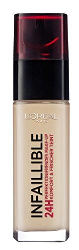 L'Oréal Paris Infaillible Make Up, 220 Sand - Make Up 24 Stunden Halt - optimal deckend & ultra-resistent gegen Talg und Schweiß, 1er Pack (1 x 30 ml)