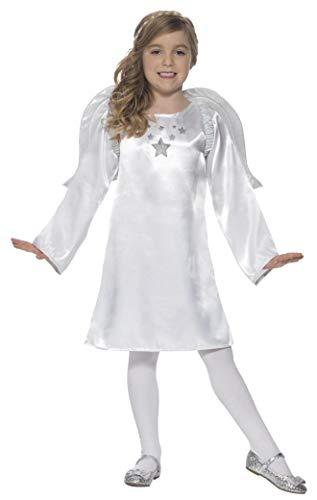 Girls White Angel Gabriel Christmas Xmas Fairy Nativity School Play Fancy Dress Costume Outfit (4-6 years)