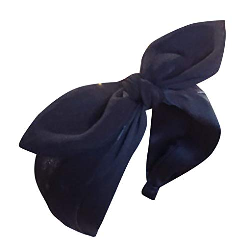 Haarbänder/Oster Hasen Ohren Stirnband/Dorical Damen Wide-Brimmed Polka Dot Ostern Stirnbänder für Ostern Party Birthday Dekoration Haarreif Stirnband Geschenk Haarschmuck mit Ohren(Schwarz)