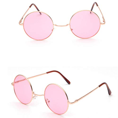 7e8f295eef nulala Hombres/Mujeres Moda Hippie Retro Círculo Lente Gafas redondas  Círculo Oceanic Color Lente Gafas